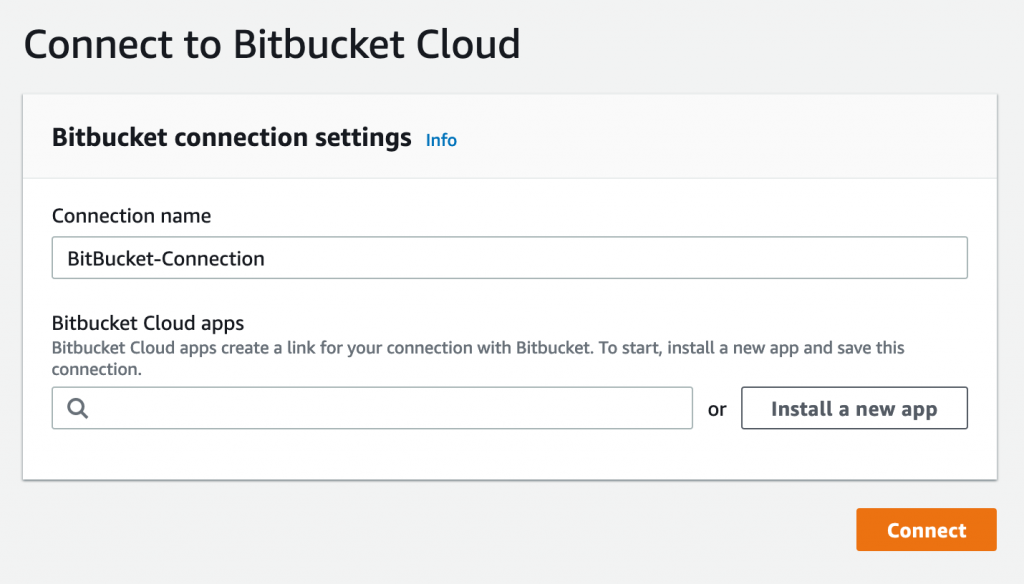 Screenshot to Connect to Bitbucket
