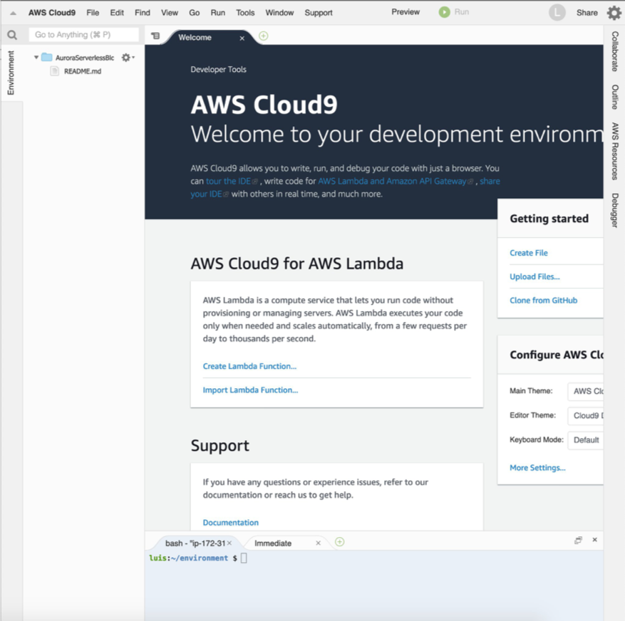 AWS Cloud9