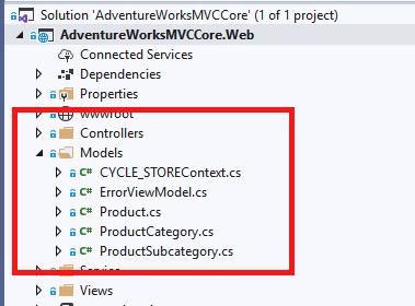 Databse model scaffolding