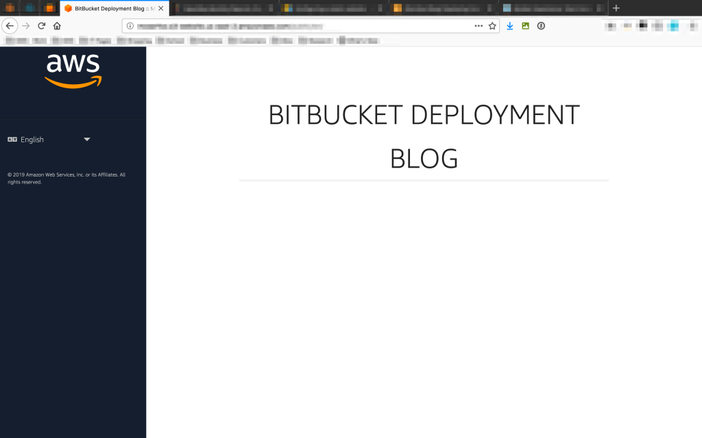 Our successfully deployed website.