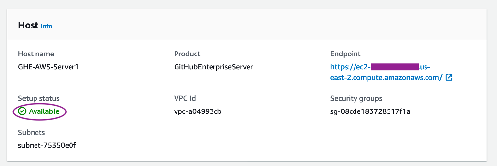 GitHub Host in Available State