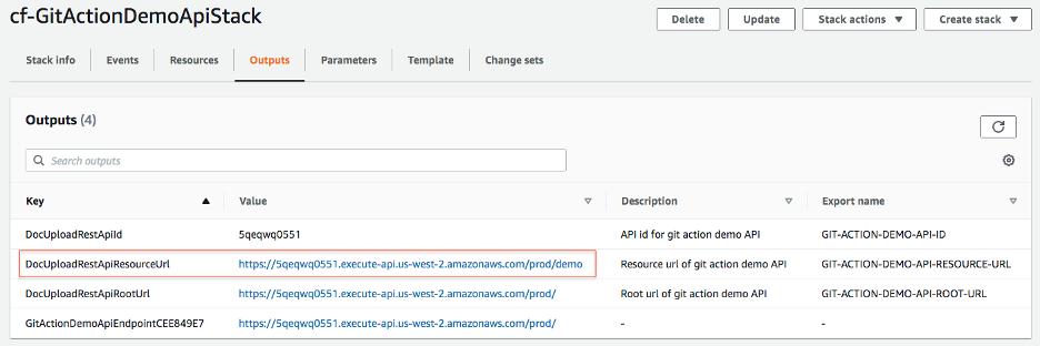 Lambda API stack in us-west-2