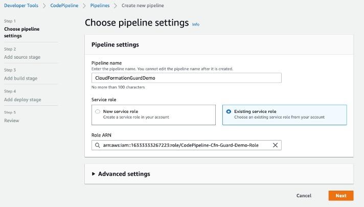 CodePipeline Setup
