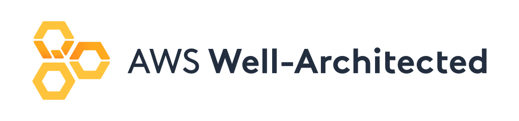 The 3 hexagons of the well architected logo appear to the right of the words AWS Well-Architected.