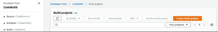 create build project