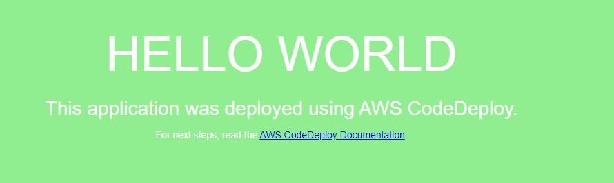 "Sample ""Hello World"" application (Green deployment)"