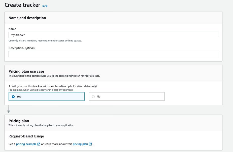 Create a Tracker form