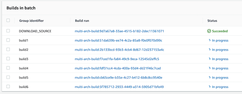 Builds in batch
