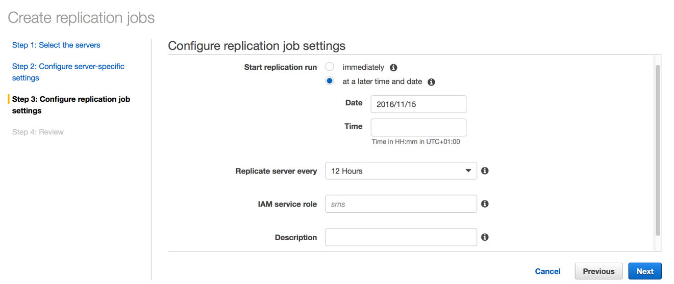 Aws server migration service server migration to the cloud made you can choose the replication frequency by selecting the desired option from replicate server every drop down list the minimum replication frequency is yadclub Image collections