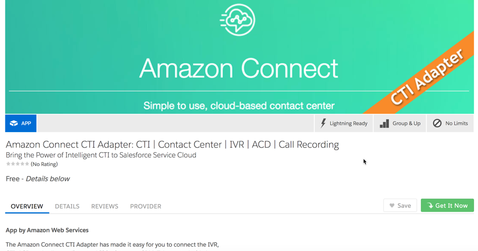Enabling Amazon Connect with Salesforce Service Cloud and