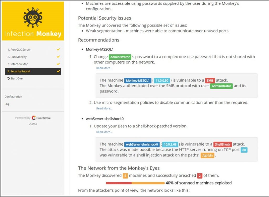 Infection Monkey_Recommendations