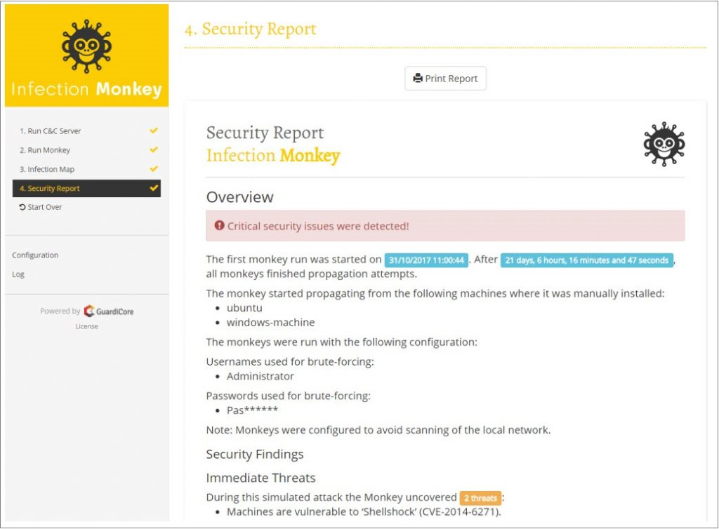 Infection Monkey_Security Report