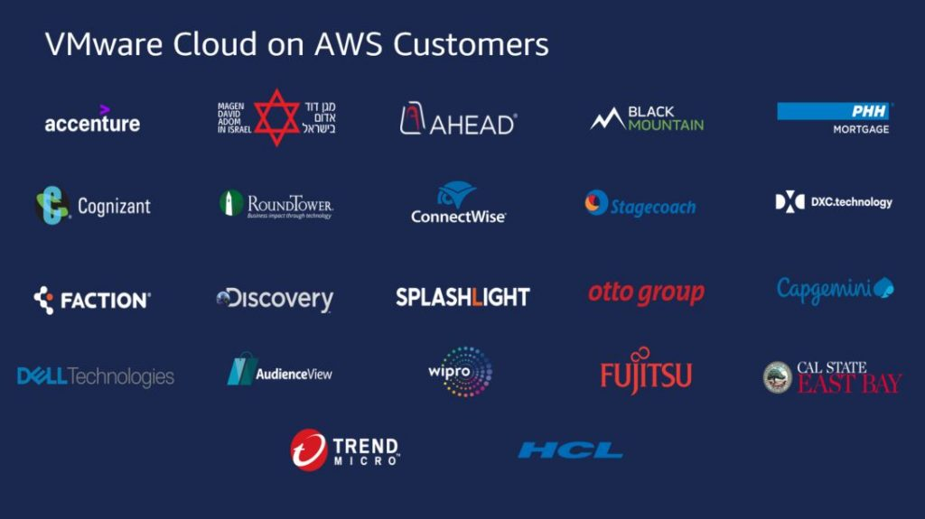 VMware Cloud on AWS Customers