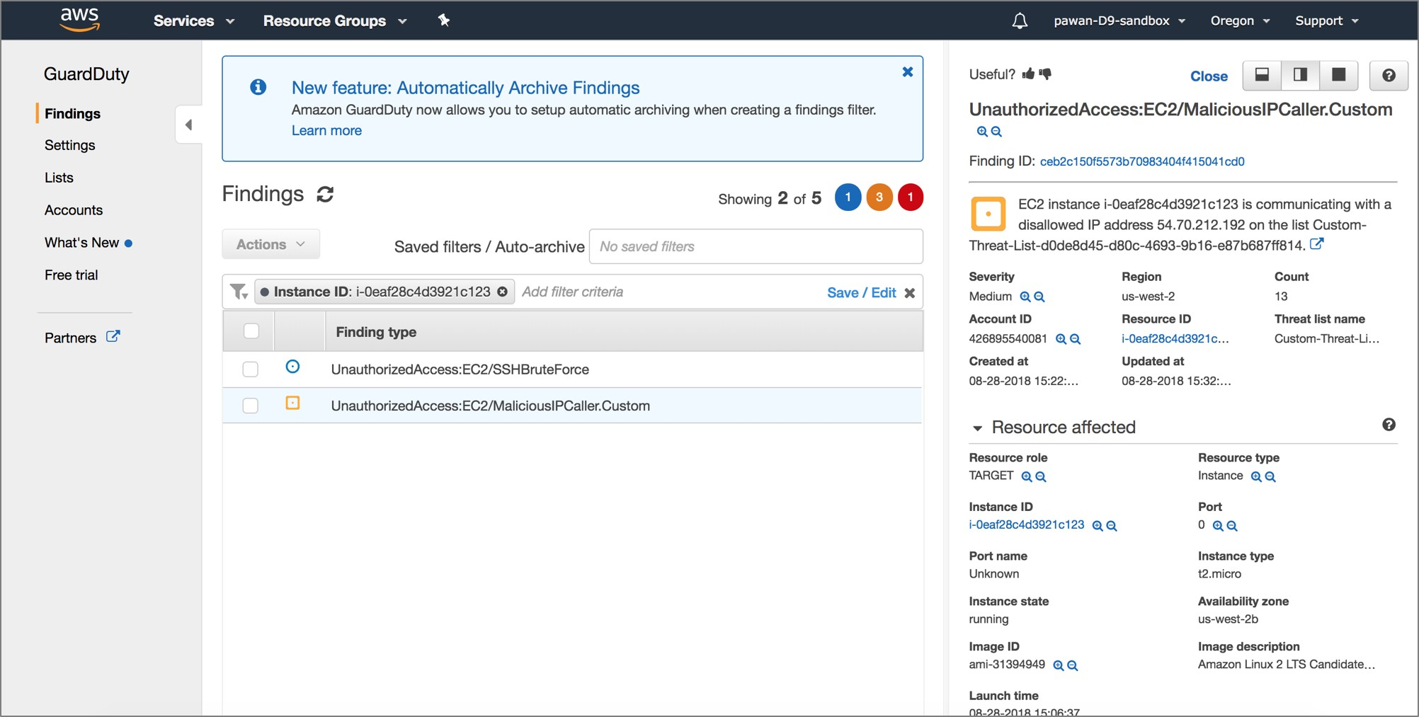 Automating Remediation of Amazon GuardDuty Findings with Dome9