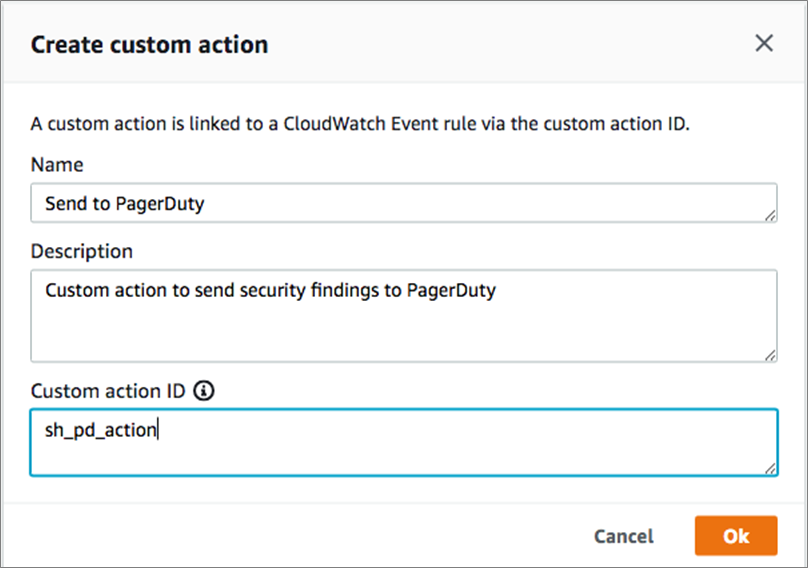 security-hub-create-custom-action