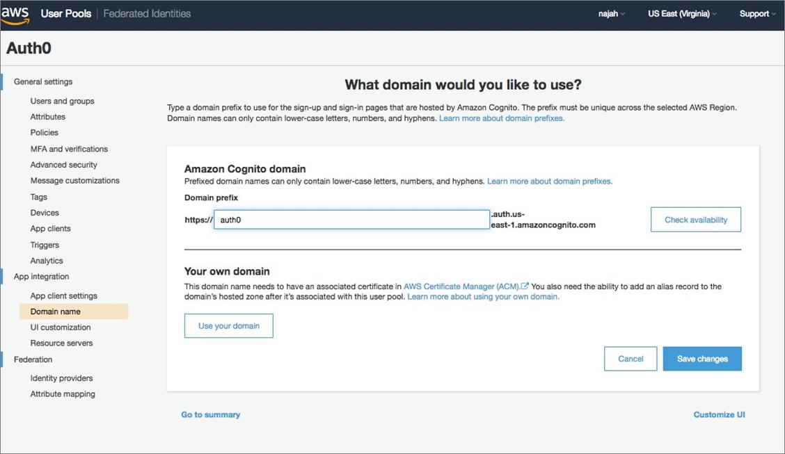 Use Amazon Elasticsearch Service with Kibana for Identity