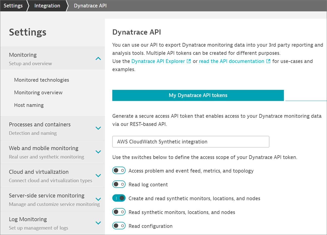 Dynatrace-CloudWatch-Synthetics-2