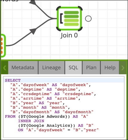 GoogleAnalytics AmazonRedShift Visualize Fig10 Join SQL Statement