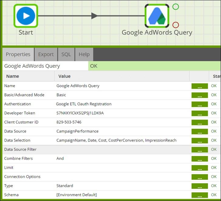 GoogleAnalytics AmazonRedShift Visualize Fig4 GoogleAdsQueryConfigure