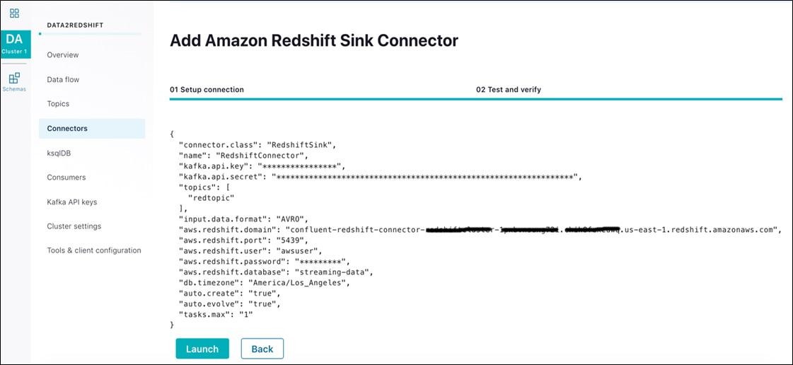 Confluent Redshift DataWarehousing Fig11 LaunchAmazonRedshiftSinkConnector