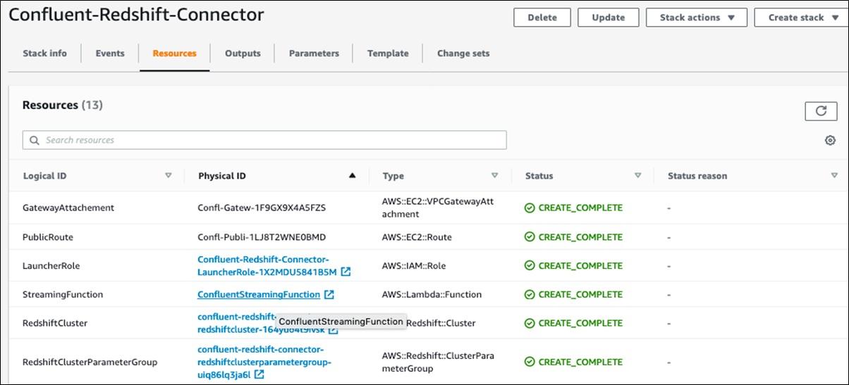 Confluent Redshift DataWarehousing Fig13 SelectConfluentStreamingFunction