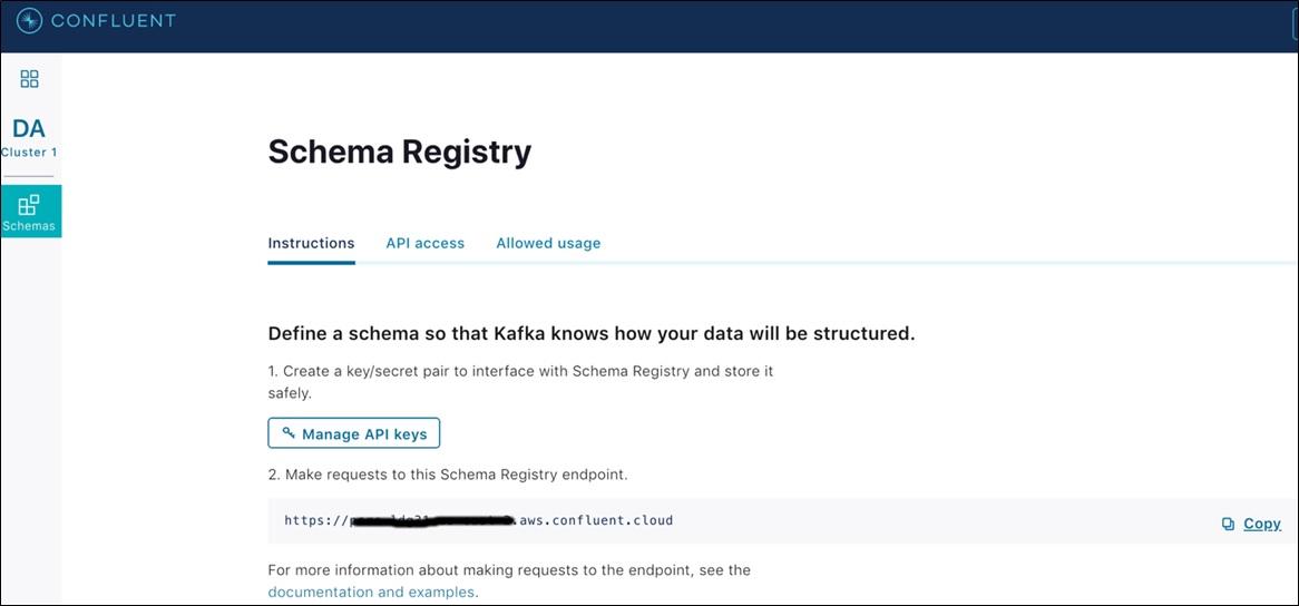 Confluent Redshift DataWarehousing Fig8 SchemaRegistryEndpointURL