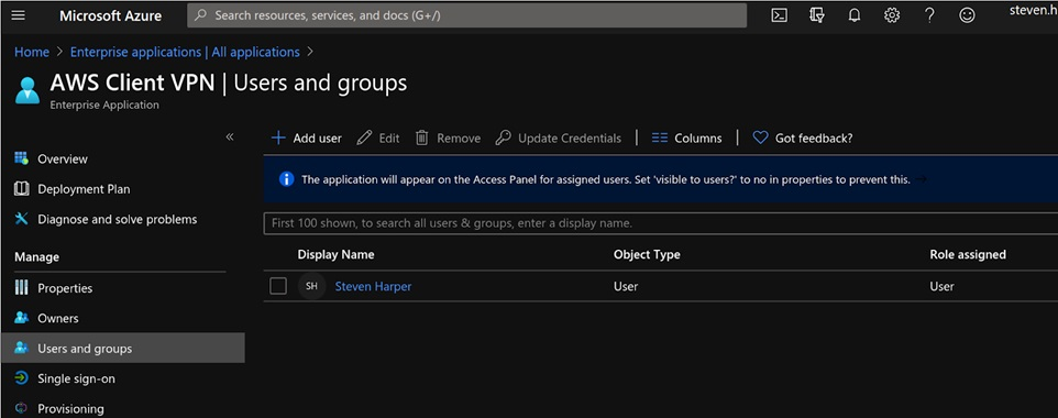 Infinity-Works-Azure-Federated-Login-5