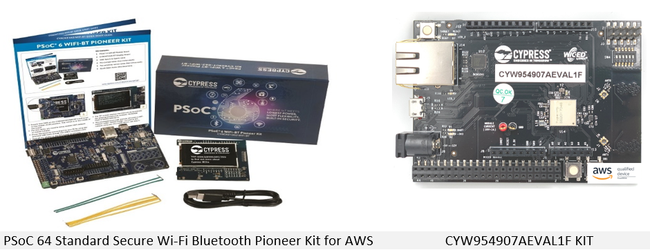 Figure 9 - AWS IoT Reference Integrations from Infineon that are qualified for FreeRTOS.
