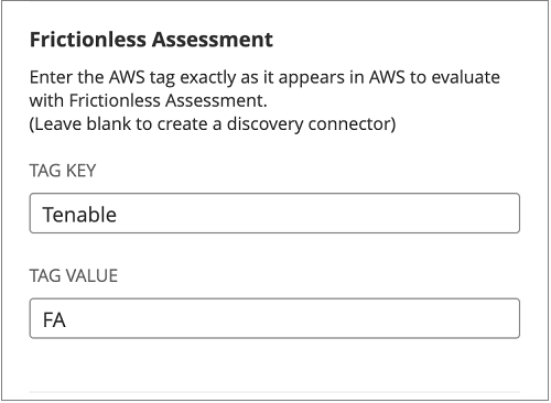 Figure 4 – AWS tag for Assessment Target.