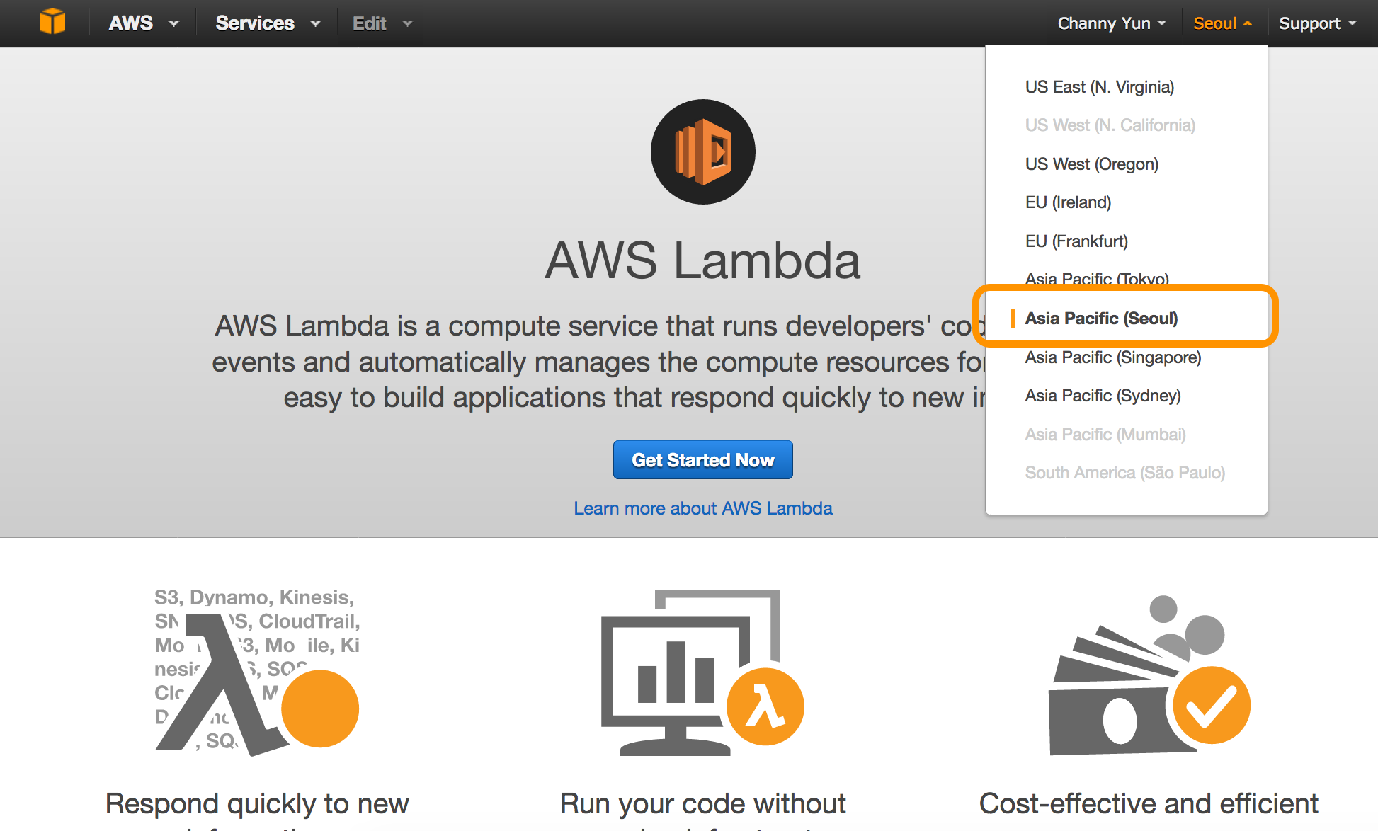 aws-lambda-in-icn