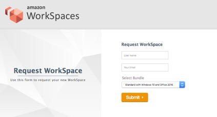 automate amazon workspaces with a self service portal desktop and