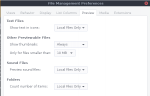 linux desktop file management screenshot