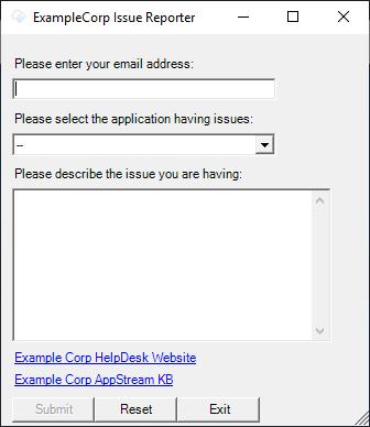 IR application GUI