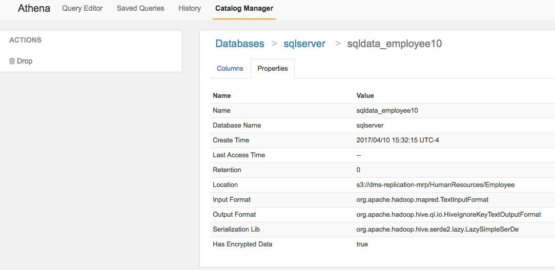 Athena Catalog Manager