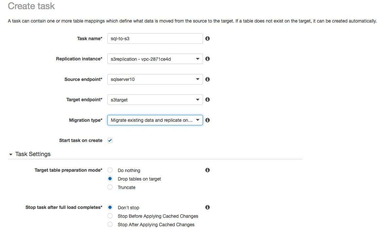 Using AWS Database Migration Service and Amazon Athena to
