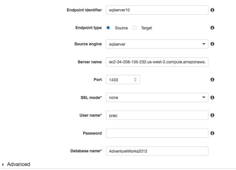 SQL Server Endpoint