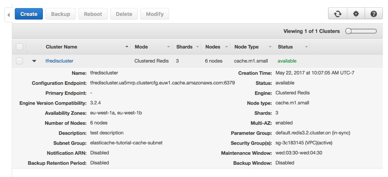Managing Amazon ElastiCache with Terraform | AWS Database Blog
