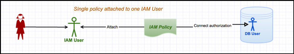 Single policy attached to one IAM user