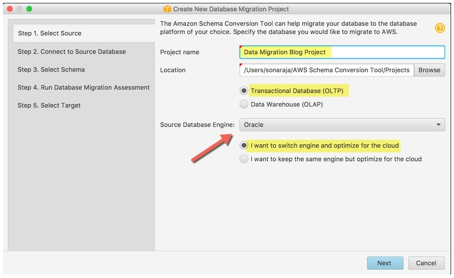 How to migrate from Oracle to Amazon Aurora MySQL using AWS