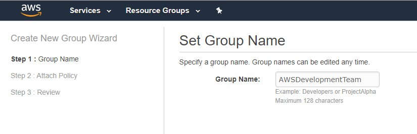 Screenshot to set the group name