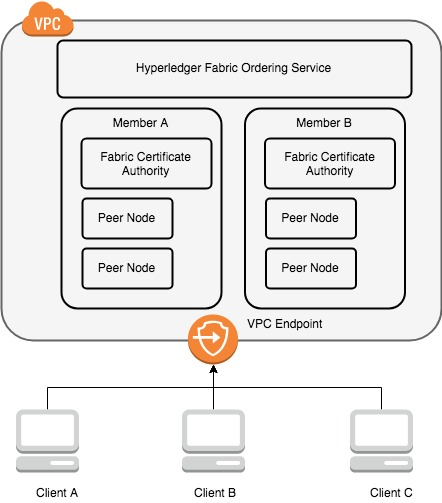 Build and deploy an application for Hyperledger Fabric on Amazon