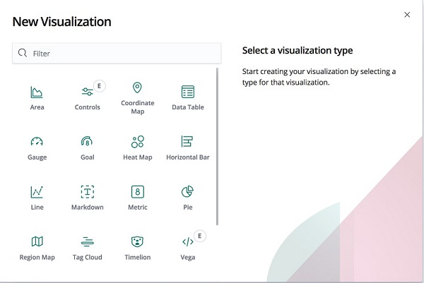 Screenshot preview of visualization option.