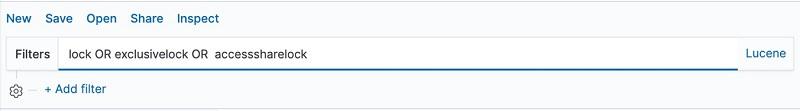 クエリが入力された Filters ページのプレビュー。