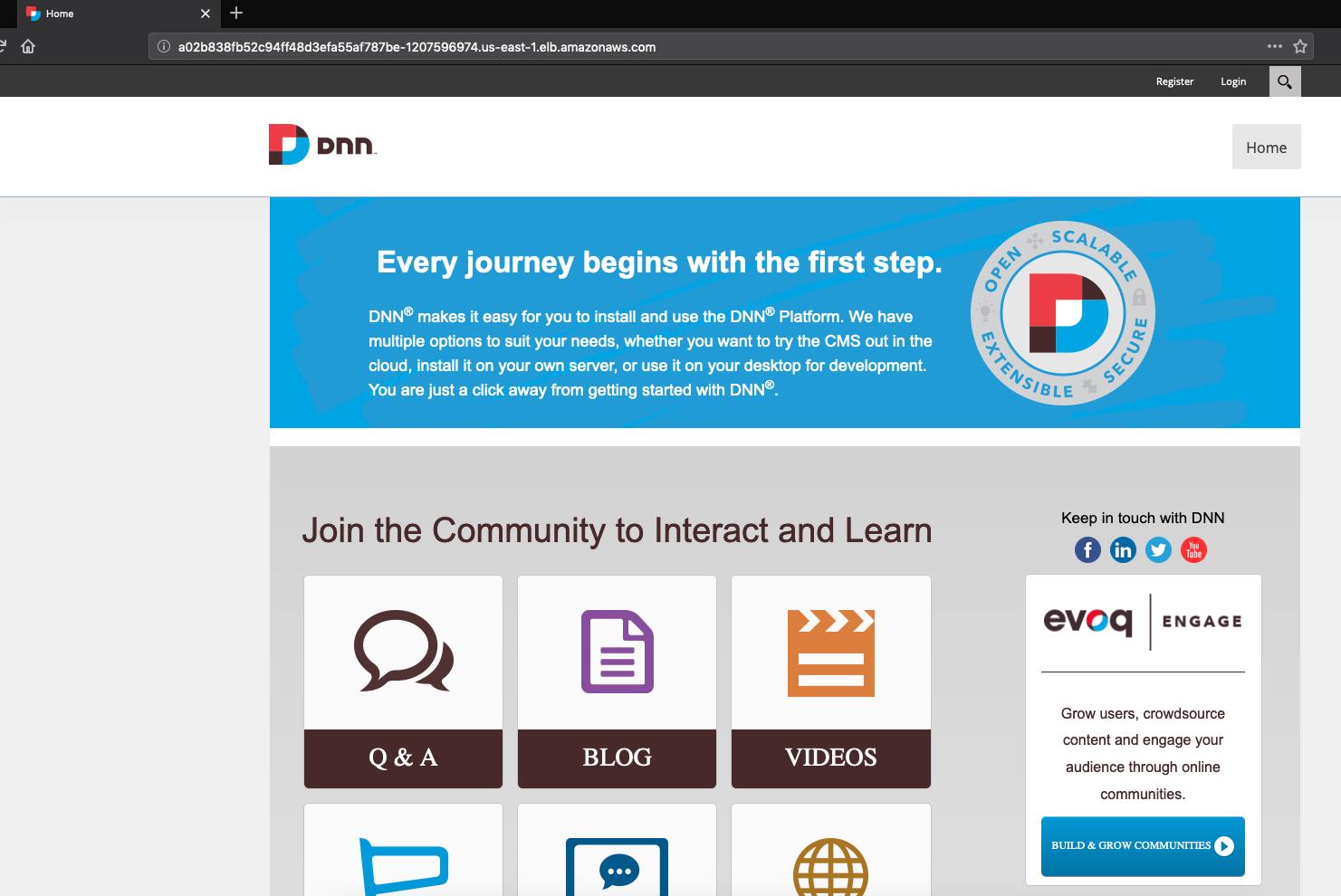 ASP.NET app screenshot