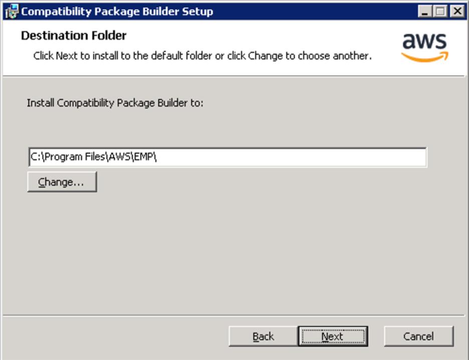 <alt_text: Choose a path to install EMP>