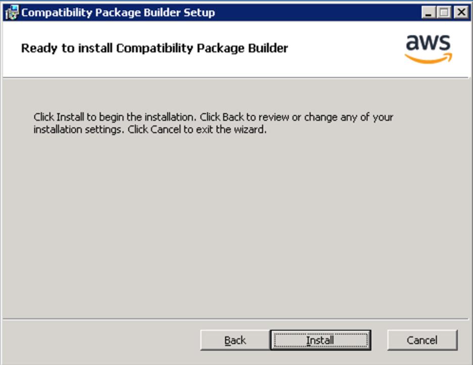 <alt_text: Begin installation>
