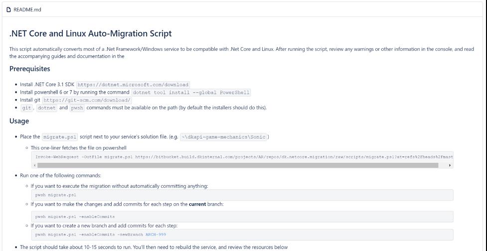README instructions for our migration script