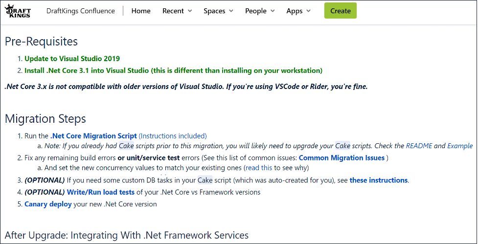 Our Runbook for micro-service migration to .Net Core