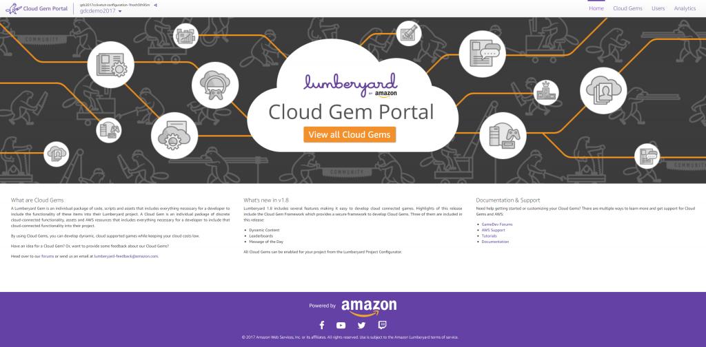 Cloud Gem Portal