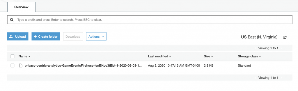Image of a file stored in Amazon S3